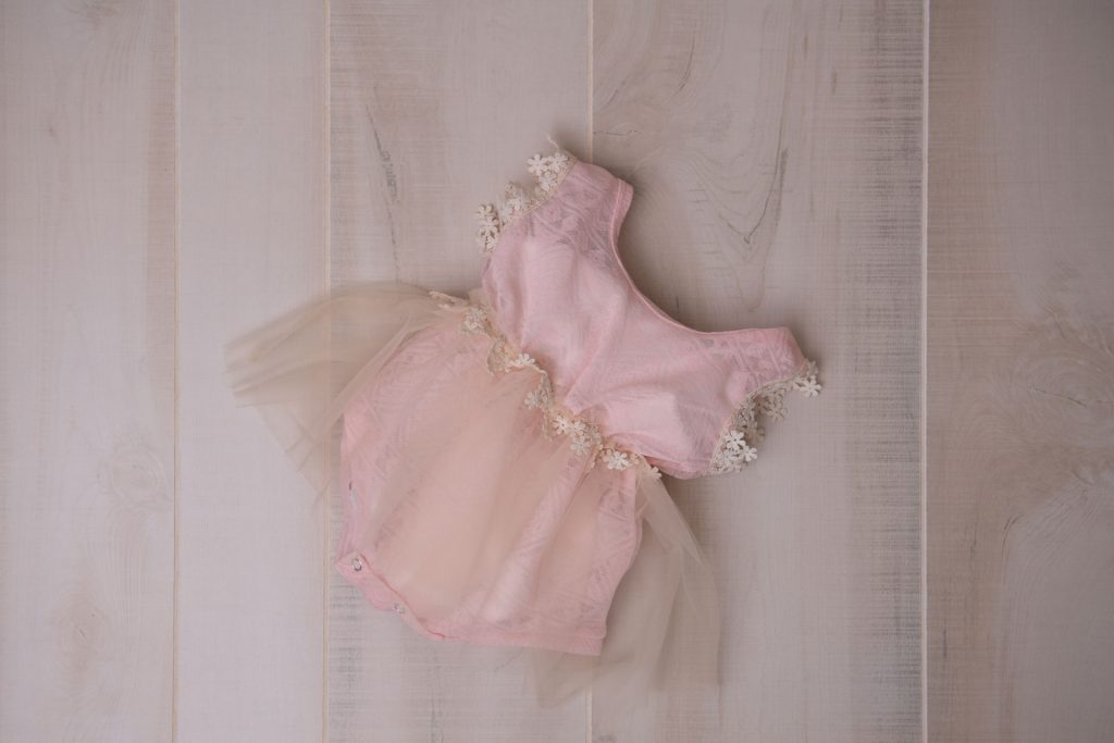 Pink tutu dress for little girls from the client closet for baby photos