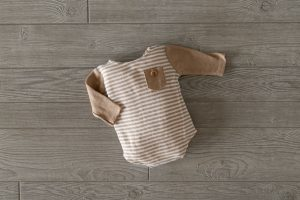 Neutral and tan boy outfit from the client closet for family photography