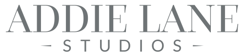 Addie Lane Studios logo in white
